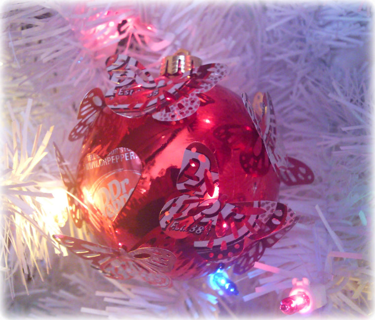 Dr. Pepper Butterfly Ornament