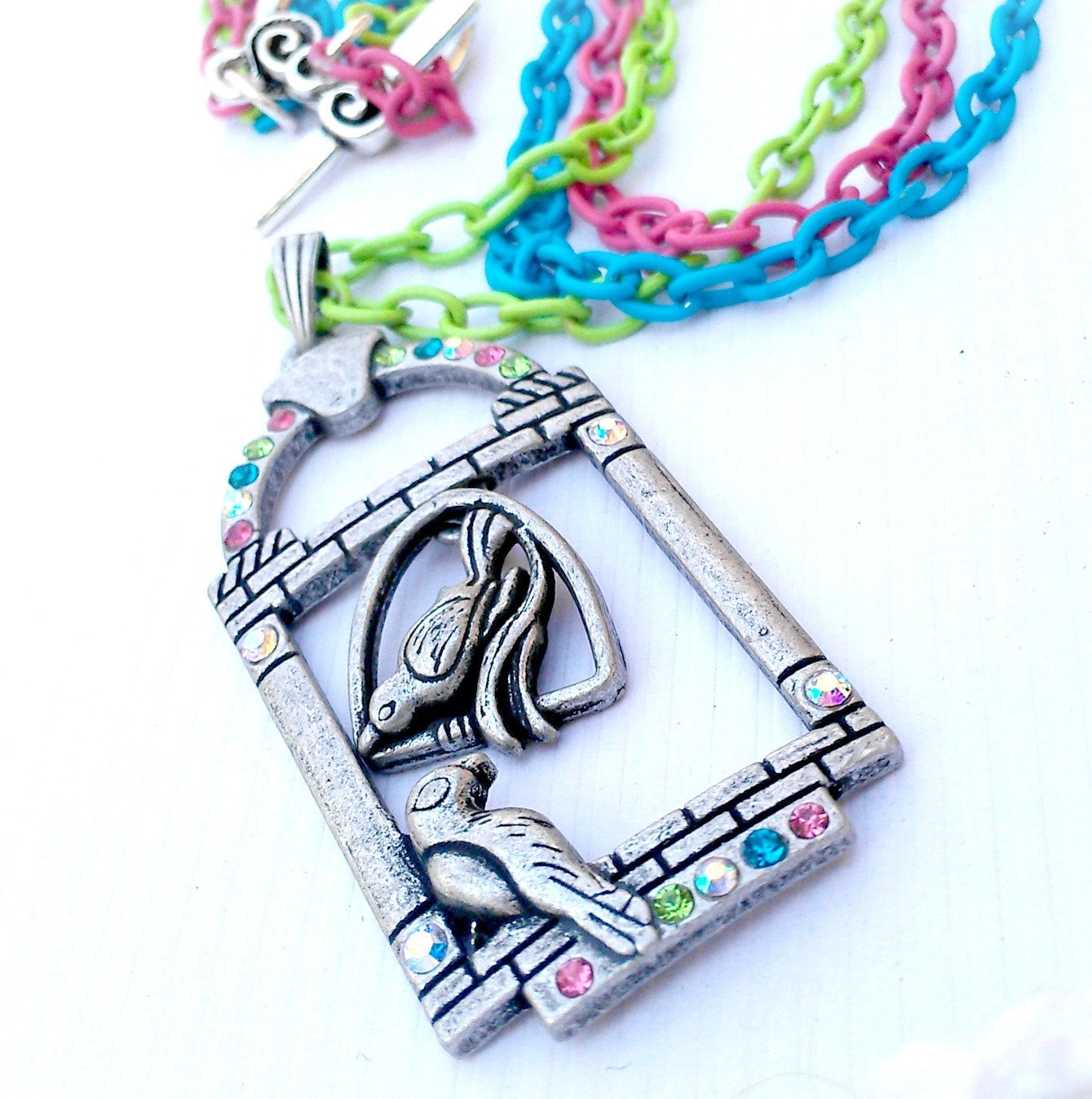 Colorful Chain Bird Necklace
