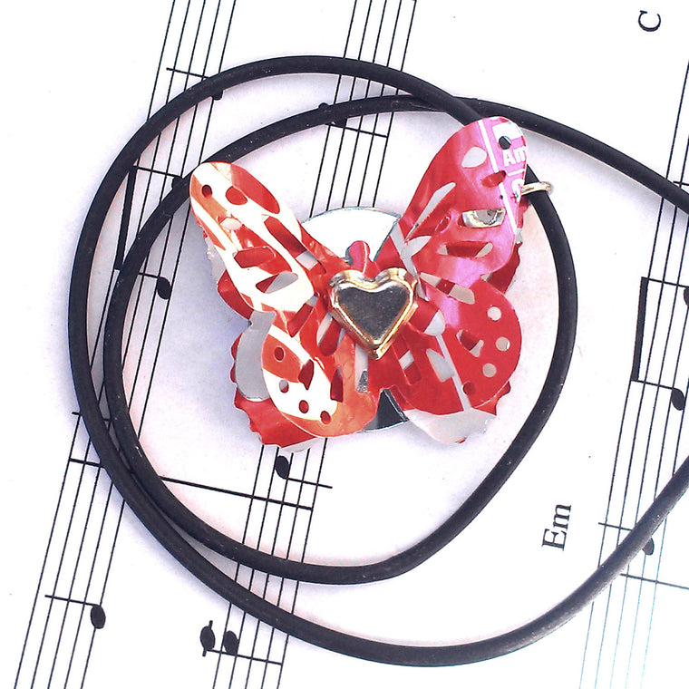 Coca Cola 3D Butterfly Necklace - Recycled