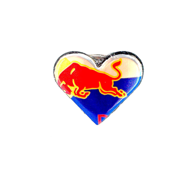 Small Red Bull Heart Ring