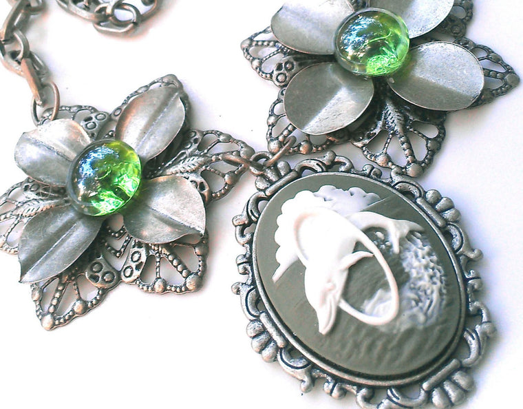 Dolphin Cameo Statement - Necklace