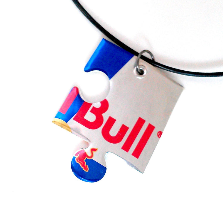 Red Bull Puzzle Piece Necklace