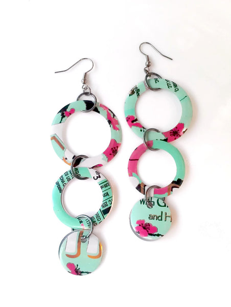 Arizona Tea Hoop Earrings