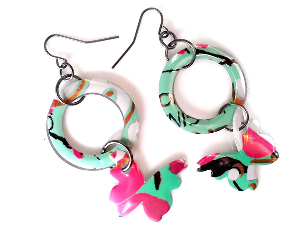 Butterfly Hoop Arizona Tea Earrings
