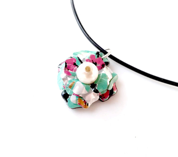 Arizona Flower Faux Pearl Necklace
