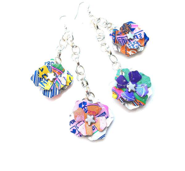 Peace Tea Dangle Flower Earrings