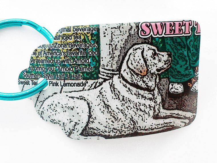 Dog Recycled Soda Can Keychain
