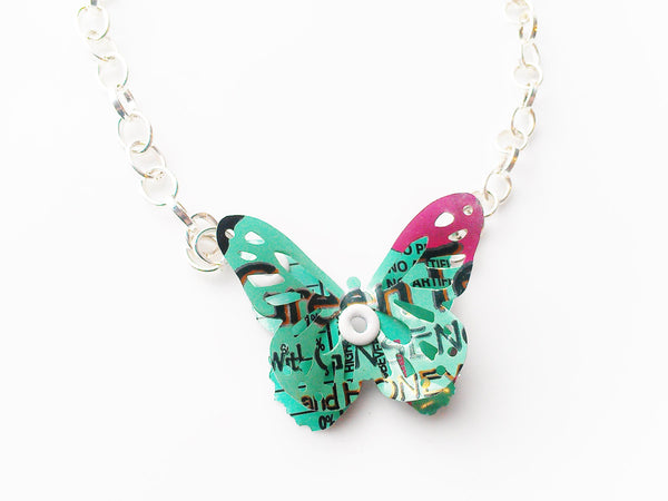 3D Arizona Tea Butterfly Necklace - Recycled