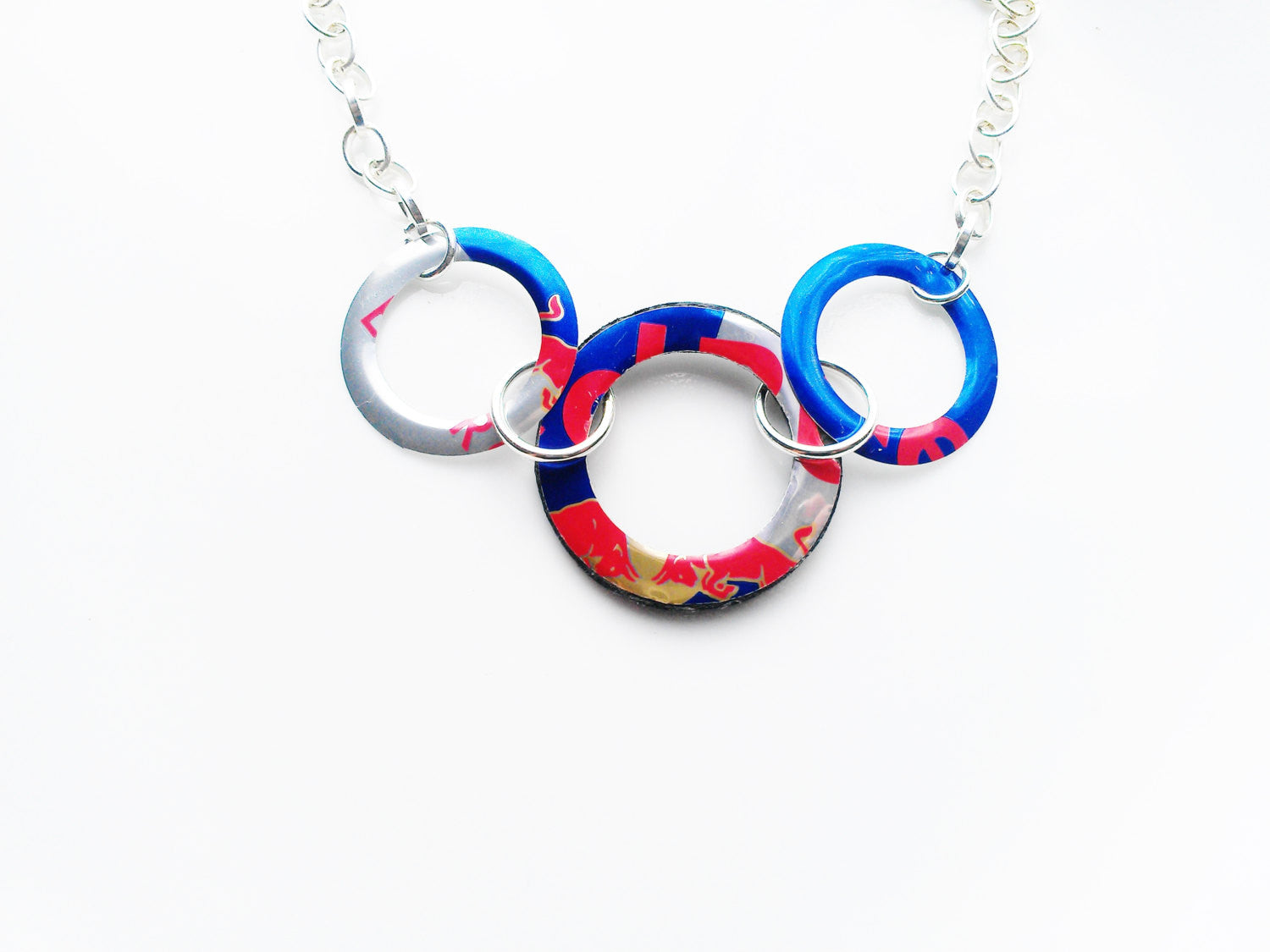Red Bull 3 Circle Necklace