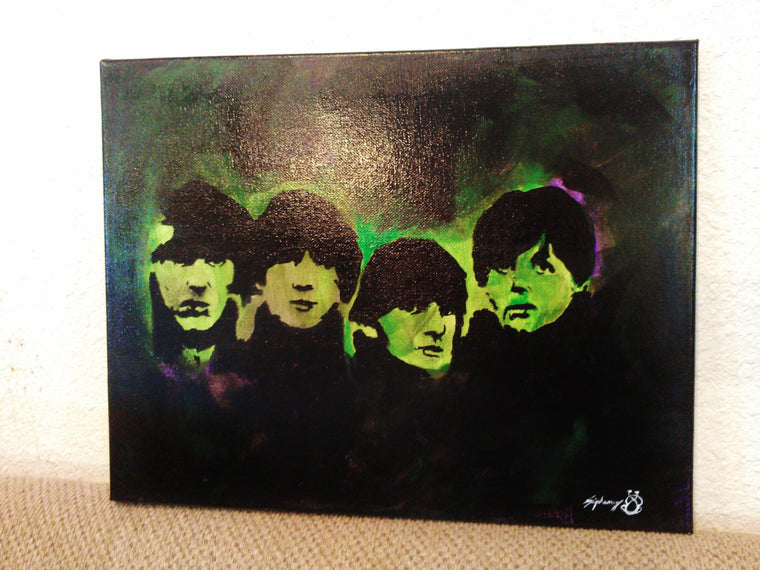 Original 11 x 14 Acrylic Beatles Painting
