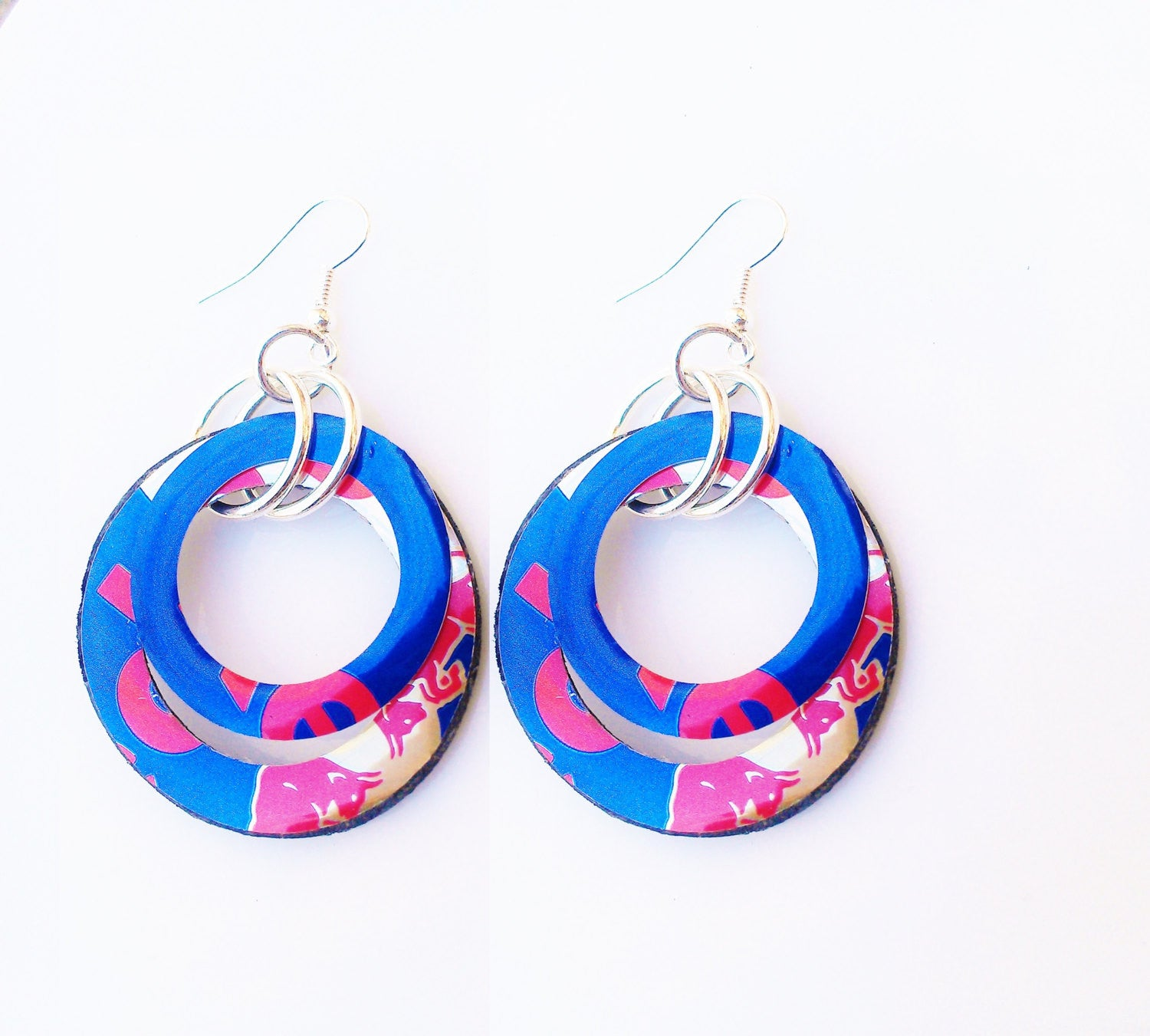 Red Bull Hoop Earrings