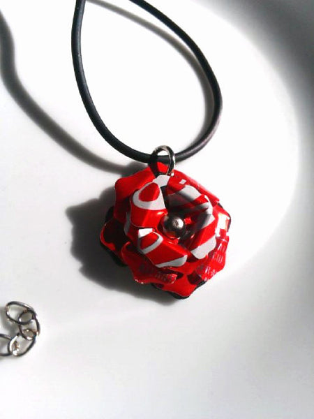 Aluminum Can Flower Necklace