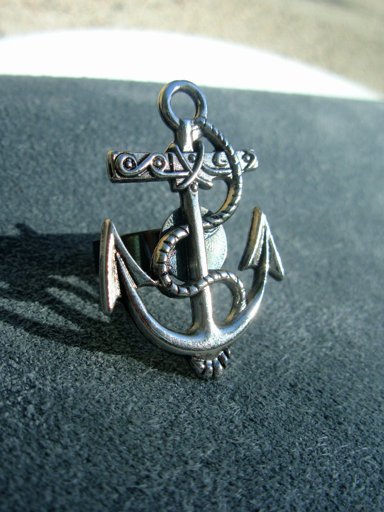 Nautical Anchor Adjustable Ring