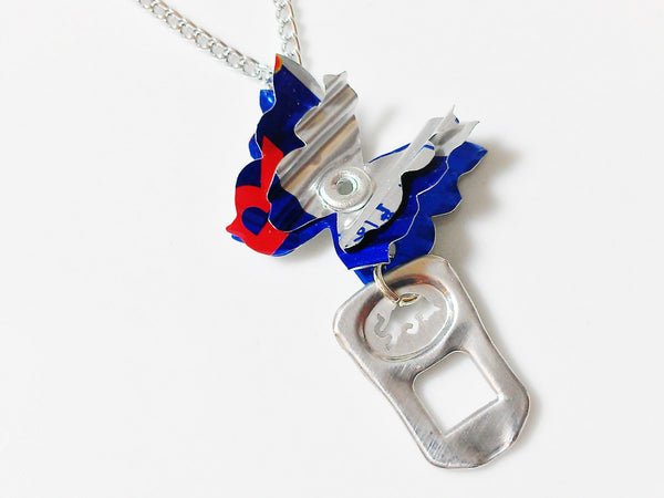 Red Bull Butterfly Pop Tab Necklace