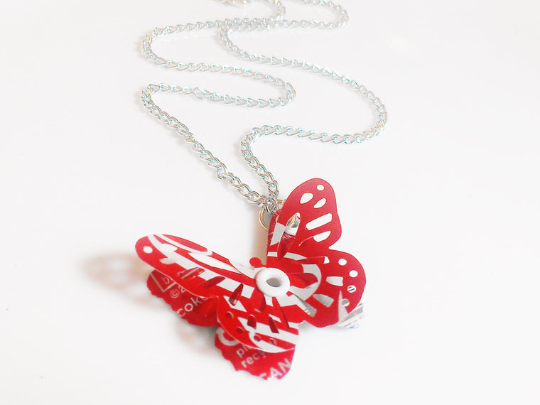 Coca Cola 3D Butterly Necklace