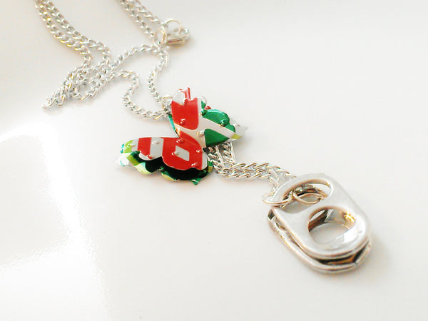 Mtn Dew Butterfly Pop Tab Necklace
