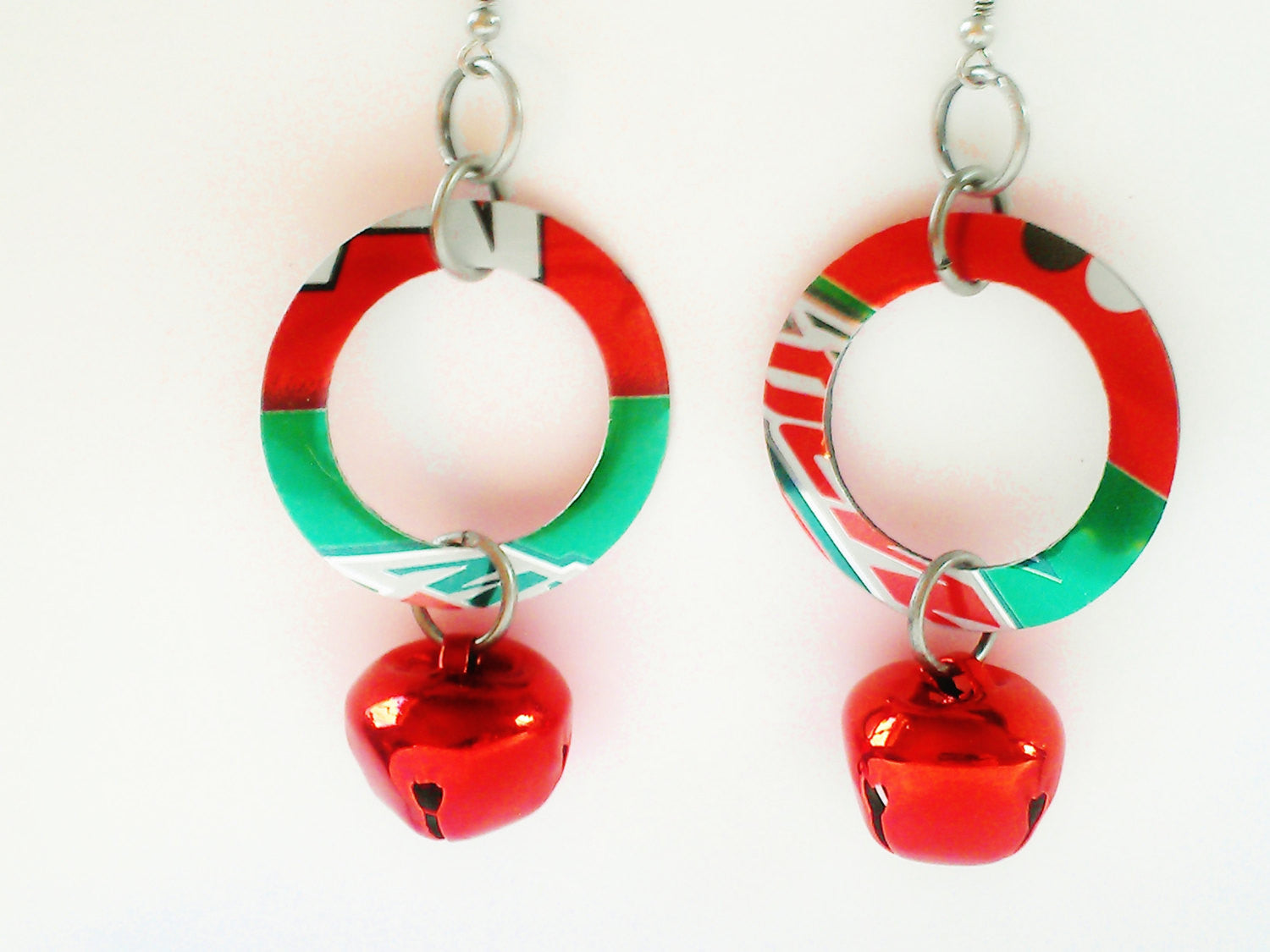 Mtn Dew Christmas Hoop Earrings