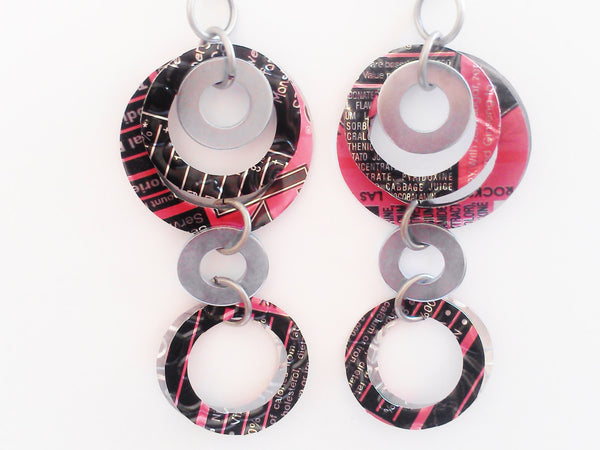 Upcycled Hoop and Washer Earrings