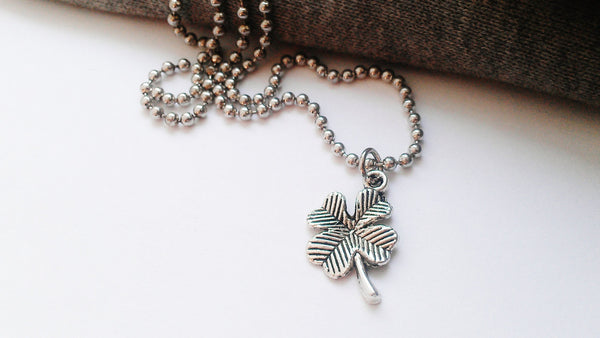 Four Leaf Clover Charm Necklace