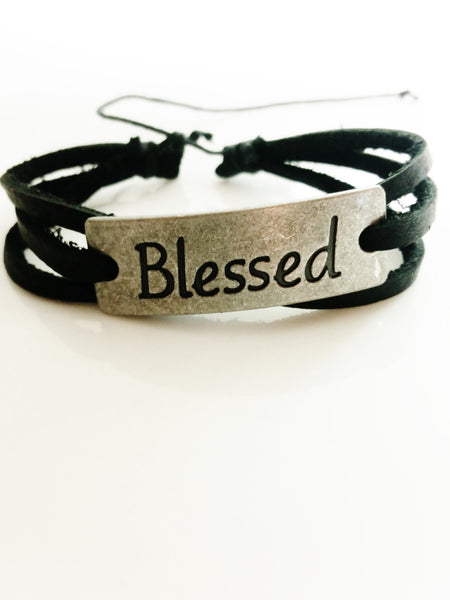 Blessed Leather Bracelet - Christian Jewelry