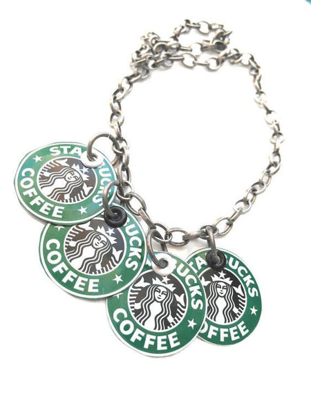 Recycled Starbucks Necklace - Charm Style
