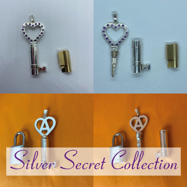 Silver secret chastity key collection