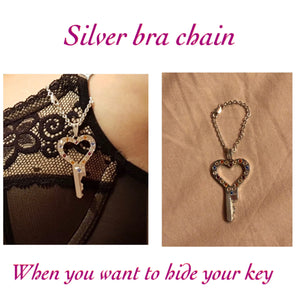 chastity-shop Keys with cylinder lock In my Heart