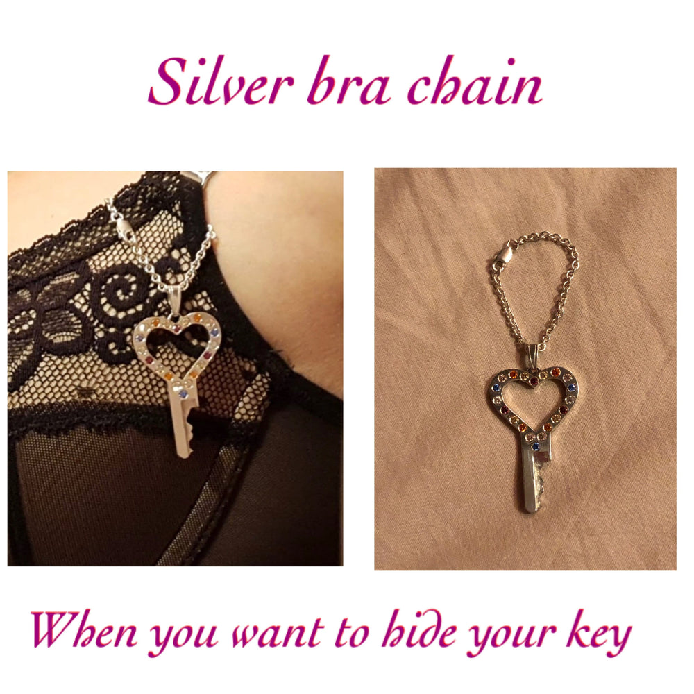 chastity-shop Keys with cylinder lock Secret Lady Grace with diamonds