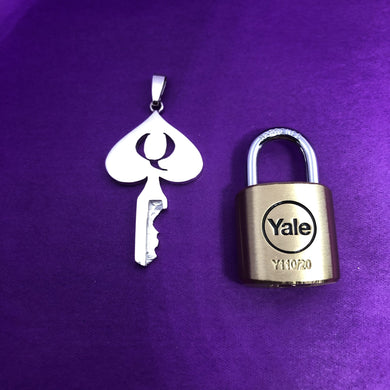 chastity-shop Keys with padlock Queen of Spades chastity key with padlock