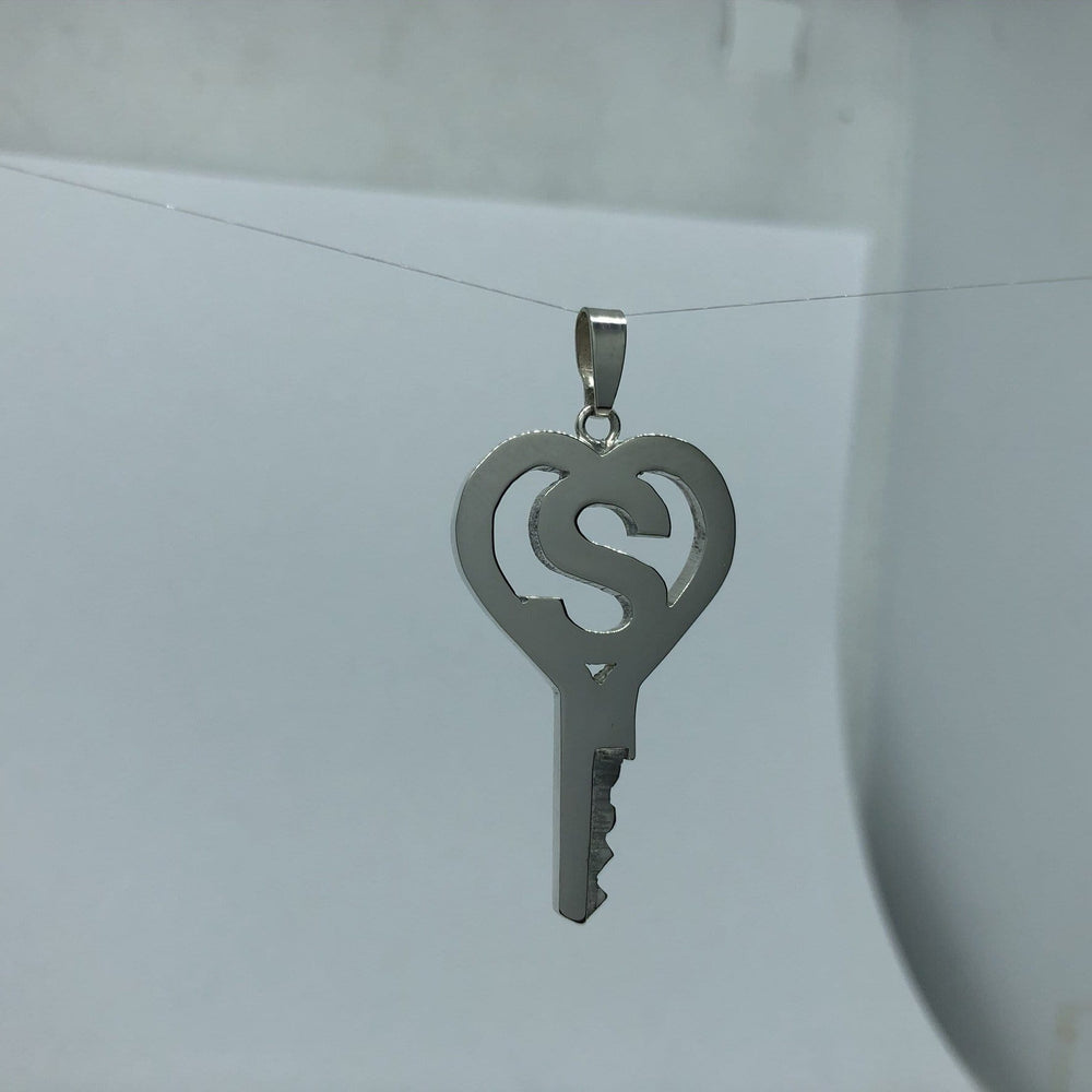 chastity-shop Keys with padlock The Alphabet Heart chastity key with padlock