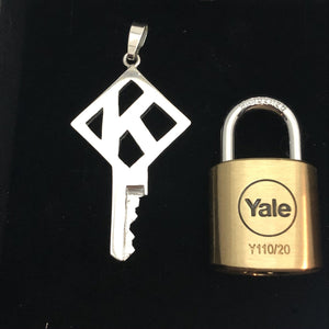 chastity-shop Keys with padlock The Alphabet with padlock