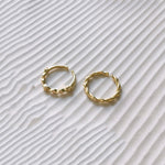 14K Dainty Gold Plated Silver Twist Stacking Ring Set Rings i_did
