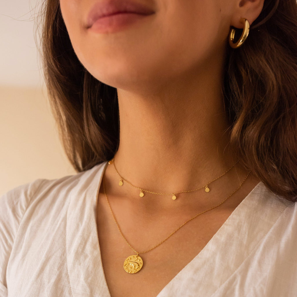 14K Gold Bull Coin Jewelry, EB56 Necklaces i_did