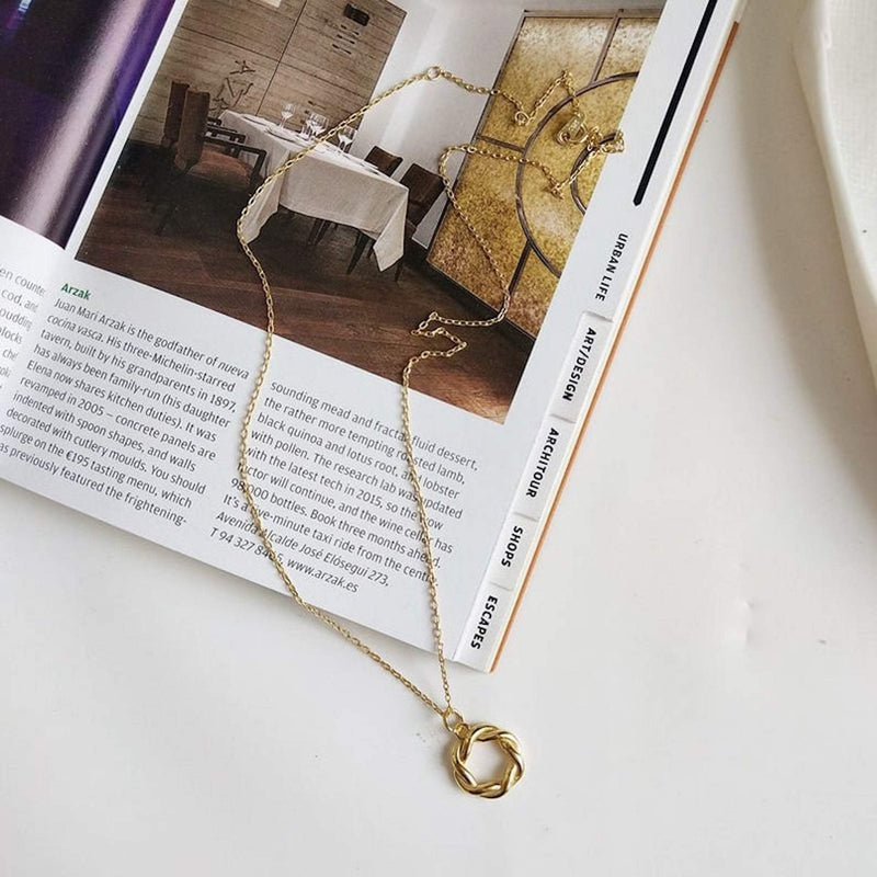 14K Gold Circle Necklace for Women, EB18 Necklaces i_did