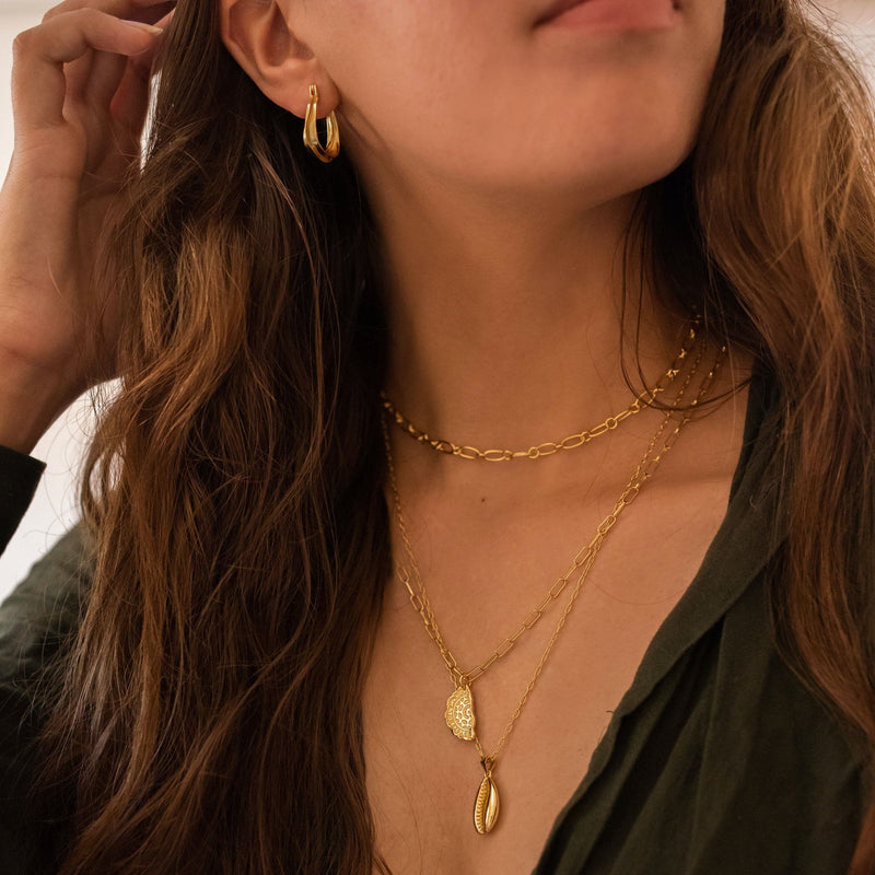 14K Gold Link Chain Minimalist Necklace, EB29 Necklaces i_did