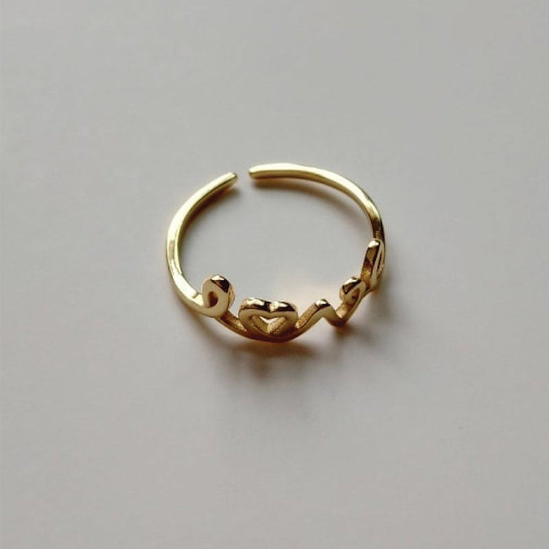 14K Gold Promise Love Ring Set, EB71/2/3 Rings i_did Love ring