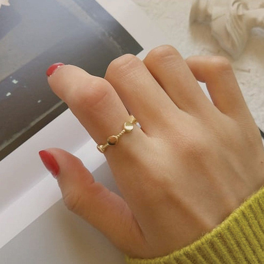 18K Gold Geometric Ring, EB15 Rings i_did