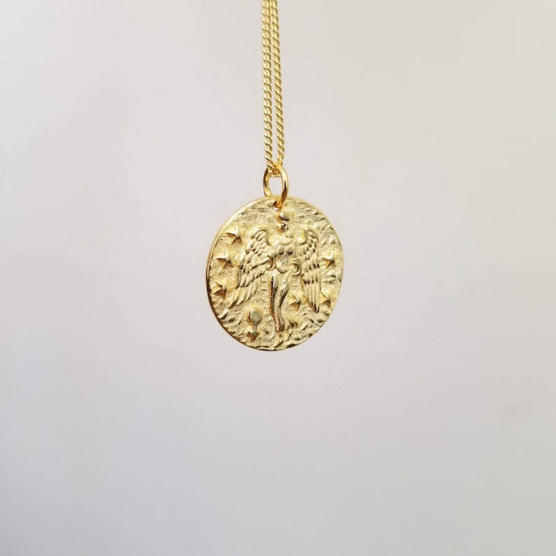 Chunky 14K Gold Goddess Layered Necklace, EB3/4 Necklaces i_did