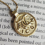 Chunky 14K Gold Leo Coin Jewelry, EB11 Necklaces i_did Pendant only