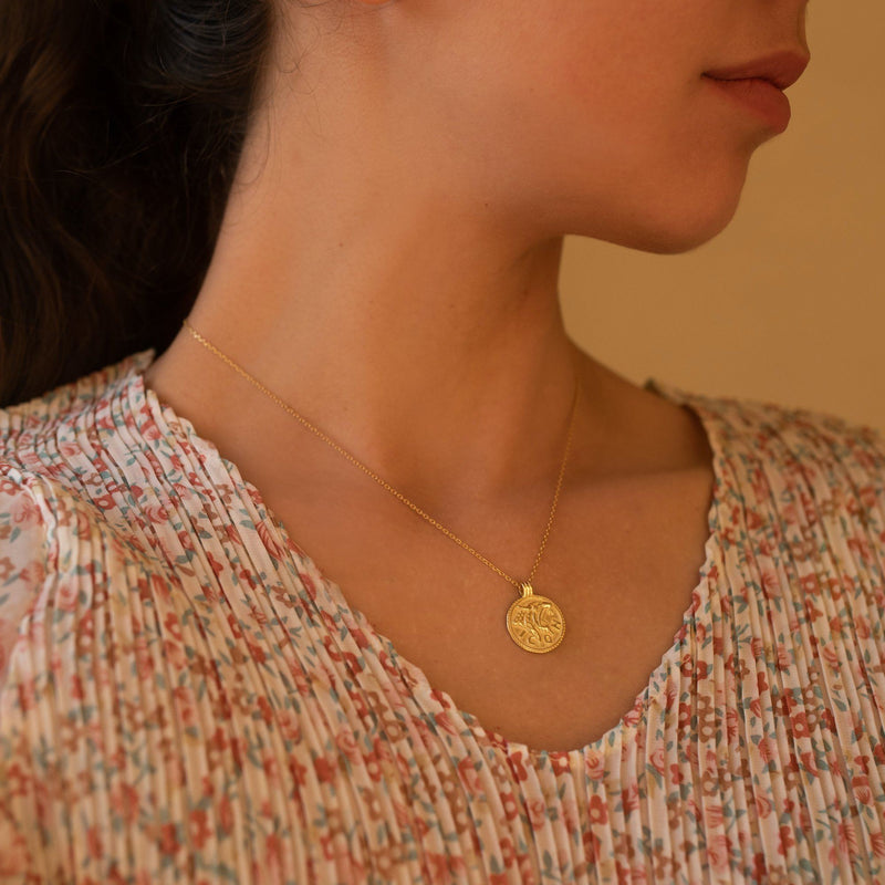 Chunky 14K Gold Leo Coin Jewelry, EB11 Necklaces i_did