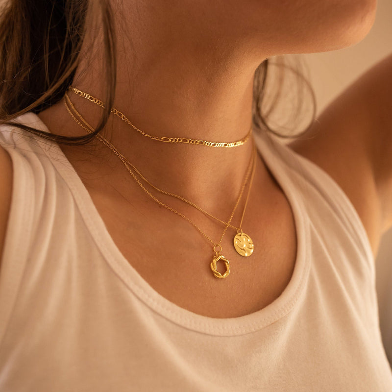 Chunky 18K Gold Coin Medallion Necklace, EB68 Necklaces i_did