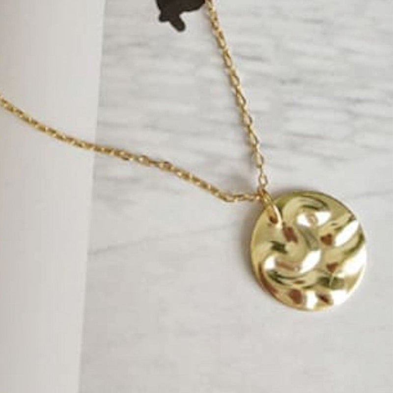 Chunky 18K Gold Coin Medallion Necklace, EB68 Necklaces i_did Pendant only