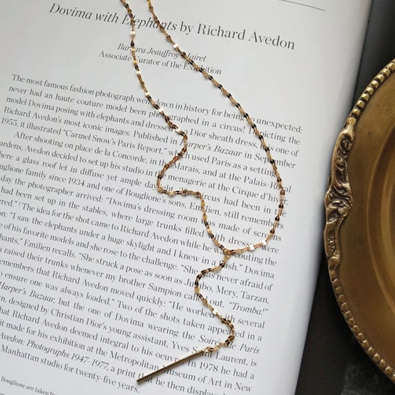 Dainty 14K Gold Chain Choker Necklace Necklaces i_did