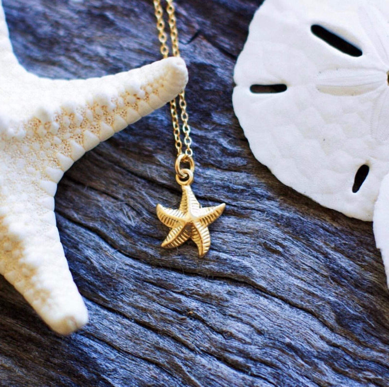 Dainty 18K Gold Starfish Necklace Necklaces i_did