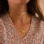 Dainty Gold 14K Disc Choker, EB47 Necklaces Elk & Bloom