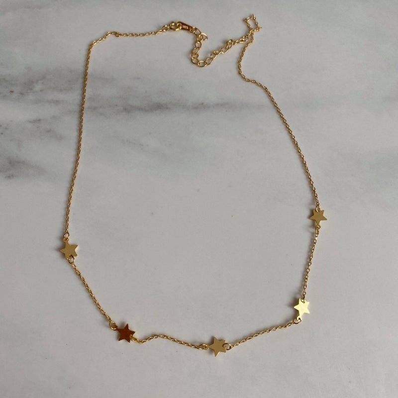 Dainty Gold 18K Star Choker, EB82 Necklaces Elk & Bloom