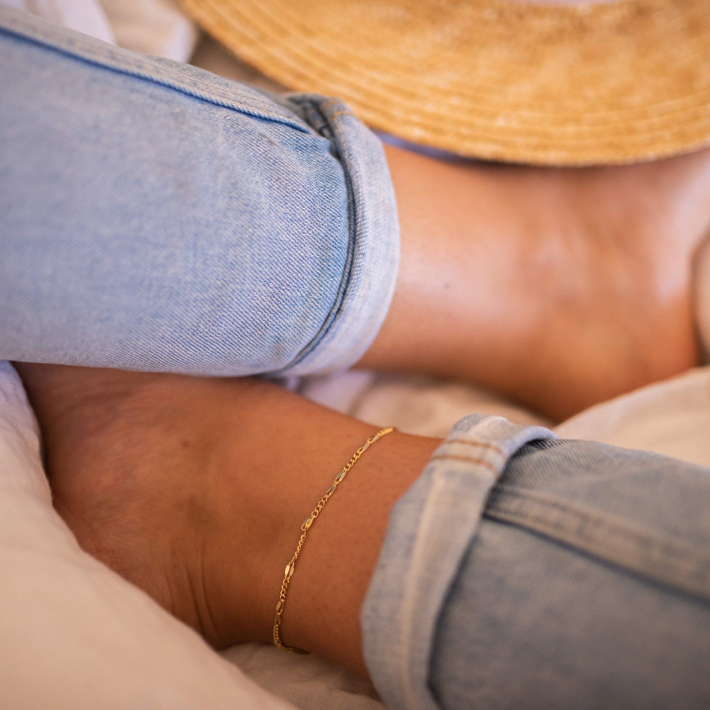 Delicate Gold 18K Chain Anklet, EB39 Anklets i_did