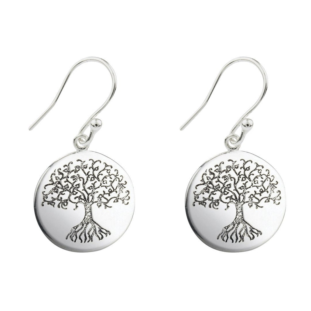 Silver Tree of Life Earrings Earrings i_did