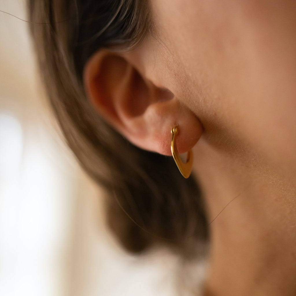 Small 18K Gold Hoops, EB66 Earrings i_did