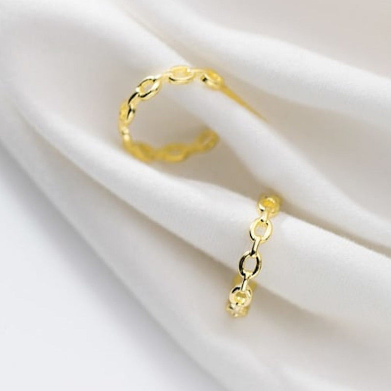 Thick 18K Gold Chain Earring Hoops, EB58 Earrings Elk & Bloom